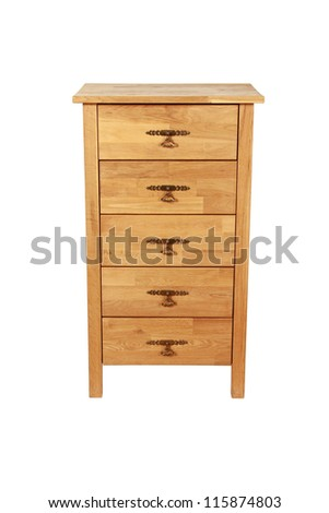 wardrobe on white background with clipping path