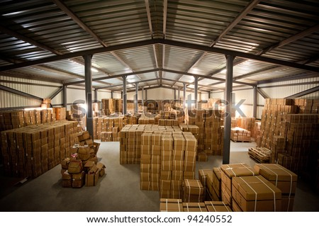 Warehouse and the box it