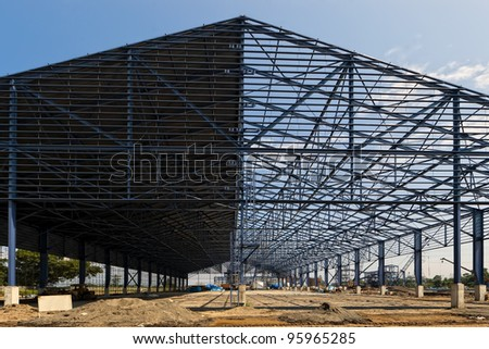 Warehouse construction site in Mindanao, Philippines