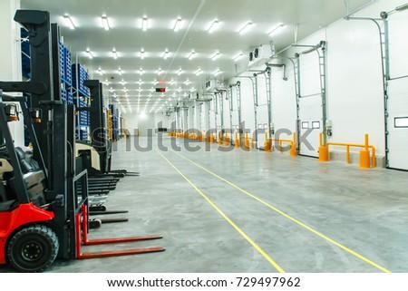 warehouse freezer forklift
