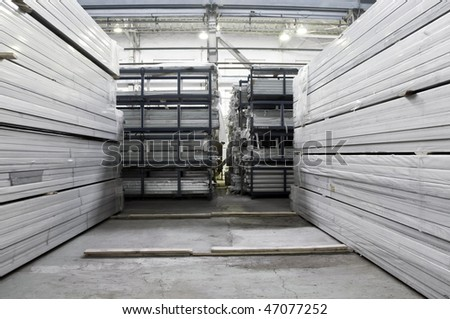 Warehouse of an aluminum profile