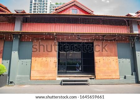 Warehouse 30 vintage community mall in bangkok city Thailand.Warehouse 30. Abandoned World War 2-era warehouses transformed into Charoenkrung's art hub