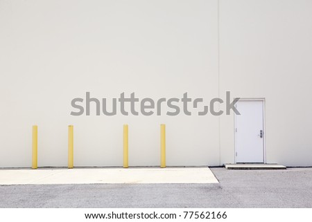 warehouse wall & door