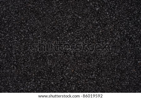 Warm asphalt in gentle diffused sun - stock photo