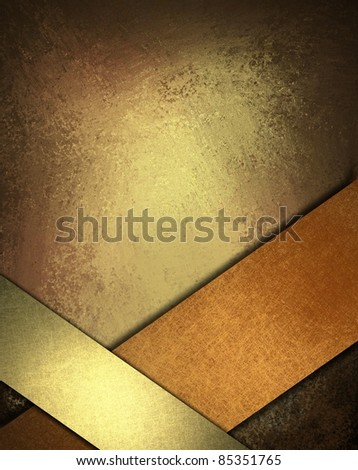 warm brown, copper, and gold background with rich, deep earth colors, soft lighting, dark edges, vintage grunge texture, shiny ribbons angled to frame bottom border, copy space for text, or title