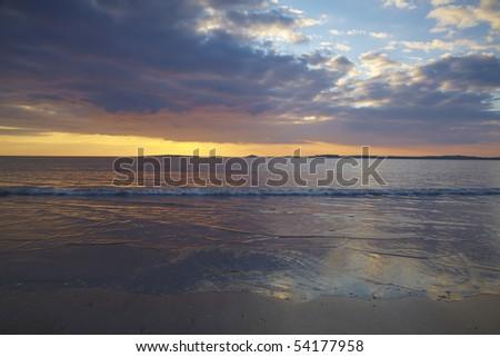 warm evening colours on Irelands West Coast at Rosses Point,Co.Sligo, Ireland