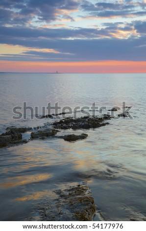warm evening light on Irelands West Coast at Rosses Point,Co.Sligo, Ireland