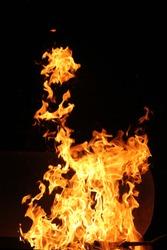 warm fire night