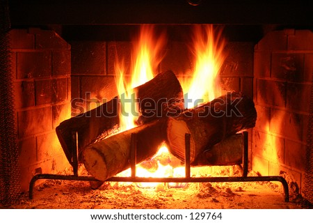 Warm Fireplace - lighter shot