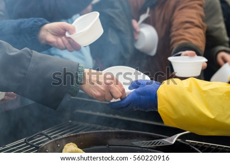 Warm food for the poor and homeless Сток-фото ©