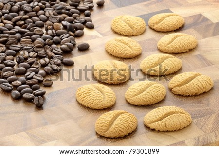 warm friendly coffee cookies, easy to prepare with a shortbread recipe and adding instant coffee