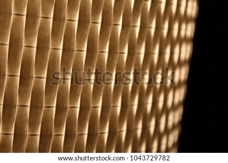 warm light shining through woven texture. overlapping yellow and white layers. glowing.  #1043729782