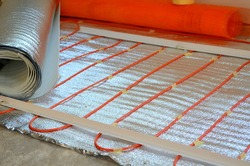 Warm radiant floor construction installation