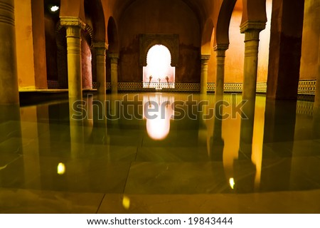 Warm room in arab spa