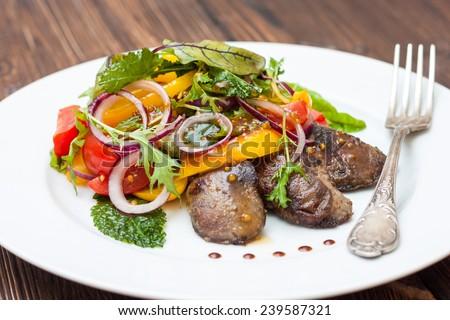 Chicken Liver Salad Balsamic Vinegar Warm Salad With Chicken Liver