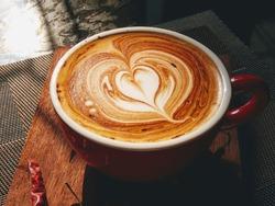Warm sunlight and beautiful Latte Art