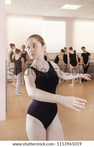 bc08f275e44f Free photos Young ballet dancing student at a class