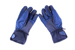 Warm, waterproof gloves. Isolated on white background