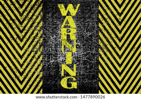Warning danger signs word text painted over concrete wall background. Concept image for caution dangerous areas.