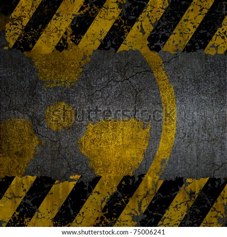 Warning radiation background texture