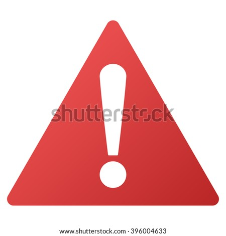 Warning raster toolbar icon for software design. Style is gradient icon symbol on a white background. #396004633