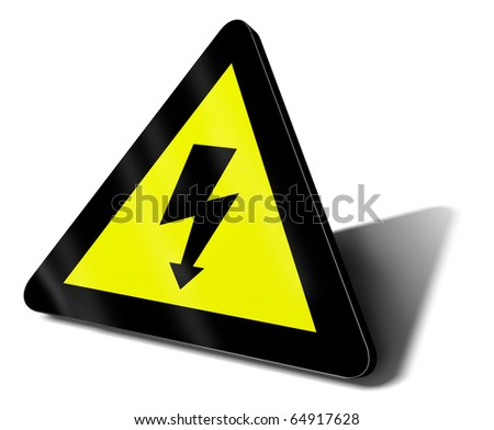 warning sign electric danger illustration