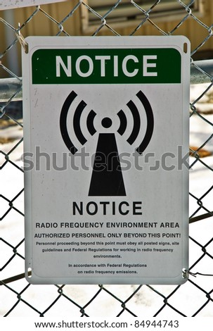 Warning Sign for a Tower - stock photo
