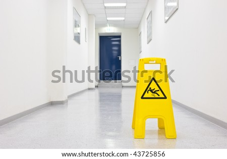 Warning sign for slippery floor