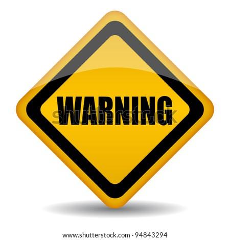 Warning sign illustration - stock photo