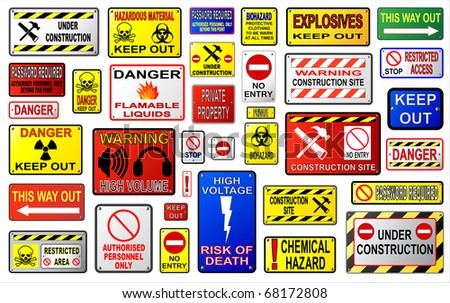 Warning Sign Illustrations