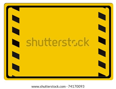 Warning sign isolated on white background