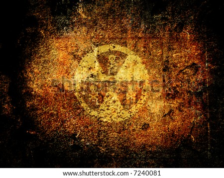 Warning sign : nuclear danger - stock photo