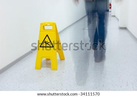 "Warning sign ""Slip hazard"""