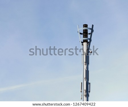 Warning signal pole #1267409422