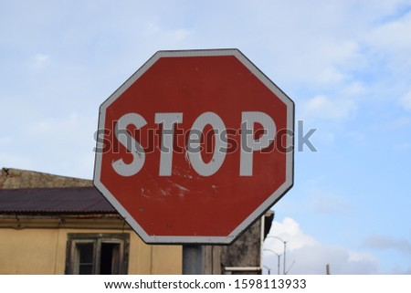 Warning signs, stop traffic sign