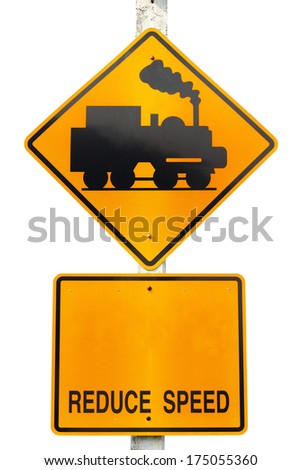 warning train traffic sign