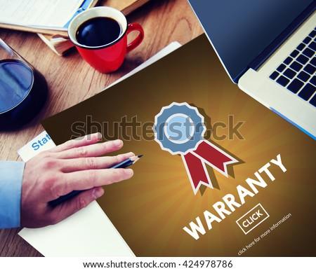 Warranty Quality Control Guarantee Satisfaction Concept #424978786