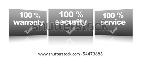 warranty, service, security, collection of stamps
