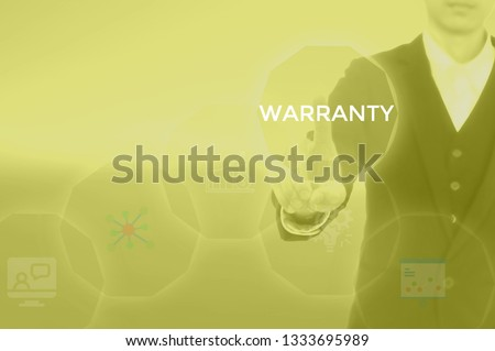 WARRANTY - technology and business concept #1333695989