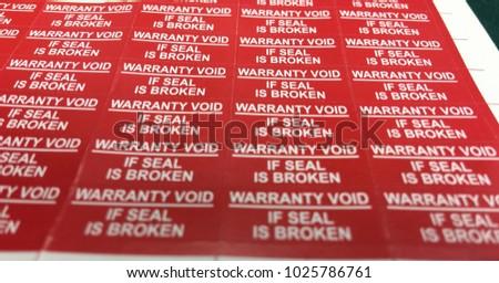 Warranty Void stickers #1025786761