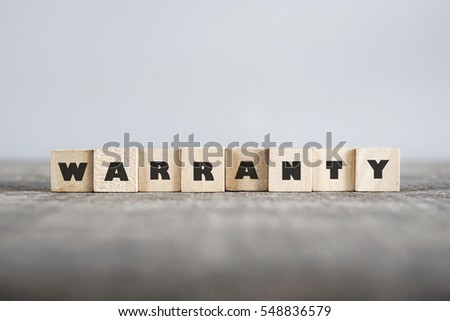 WARRANTY word made with building blocks #548836579