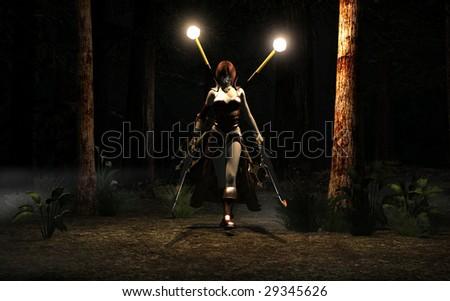 Stock Photo warrior woman