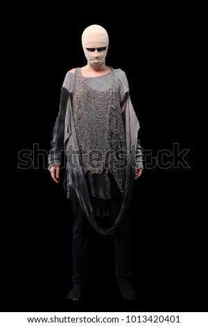 warrior woman in costume #1013420401