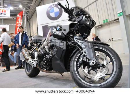 WARSAW - FEBRUARY 21: BMW K1300R in the exhibition of motorcycles on February 21, 2010 in Warsaw, Poland.