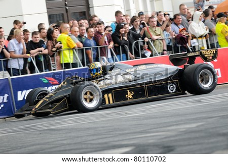 WARSAW - JUNE 18: Formula One racing car Lotus 91 during VERVA Street Racing Show on June 18, 2011 in Warsaw, Poland. It is largest event of its kind held in Poland.