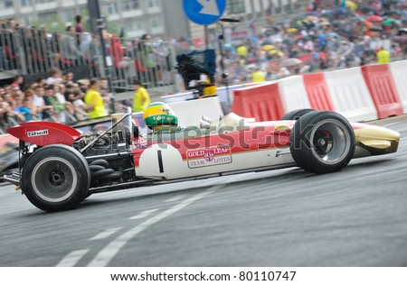 WARSAW - JUNE 18: Formula One racing car Lotus 49 during VERVA Street Racing Show on June 18, 2011 in Warsaw, Poland. It is largest event of its kind held in Poland.