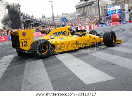 WARSAW - JUNE 18:  Formula One racing car Lotus 102 with Lamborghini engine at VERVA Street Racing Show on June 18, 2011 in Warsaw, Poland. It\'s largest event of its kind held in Poland.