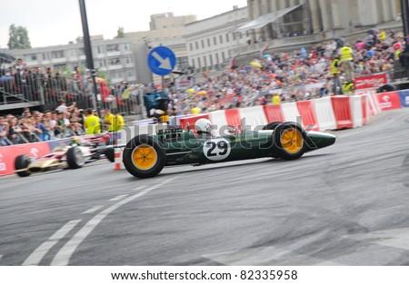 WARSAW - JUNE 18:  Legendary Formula One racing car Lotus 25 during VERVA Street Racing Show on June 18, 2011 in Warsaw, Poland.