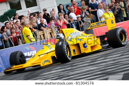 WARSAW - JUNE 18: Legendary Formula One racing car Lotus 102 with Lamborghini engine during VERVA Street Racing Show on June 18, 2011 in Warsaw, Poland. It is largest event of its kind held in Poland