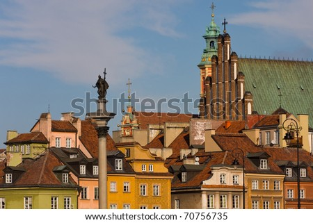 Warsaw old town architecture